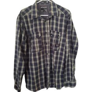 JACK &JONES plaid casual men shirt. Size XL